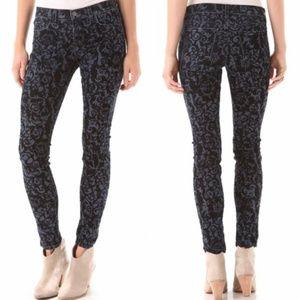 J Brand Black Brocade Jean's Size 29